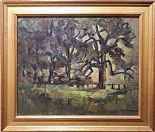 Piet Mondriaan: Am Gein Weiden, Oil c.1910