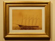 Gov. Ames Schooner Albumen Photo c.1888