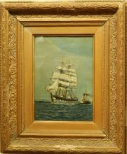 W.H. Sidney: British Marine Painting With Two Ships