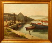 D. Benway Helm: Pigeon Cove, Gloucester Oil Painting