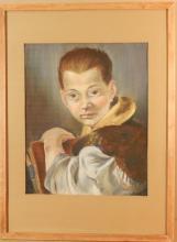 Howard Besnia: Boy, After Tiepolo, Pastel