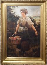 Marcus Gottsdanker: Apple Picker Oil Painting