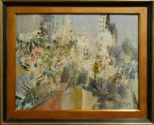 Loret: Mid Century Central Park Oil Painting