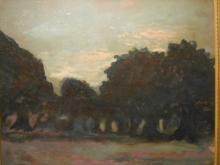 Henri: Antique Tonalist Oil Landscape