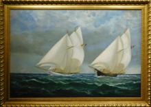 A.S.Langiell:  Falmouth Oyster Boats, 1891