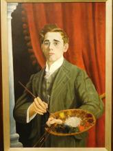 Cecil Eyley: Myself, 1913 self portrait, oil