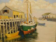 Nyland: Boats,  Fishing Boat, Provincetown oil painiting