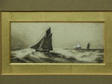 JT Hogg: Sail Boats, 1882 Marine Watercolor