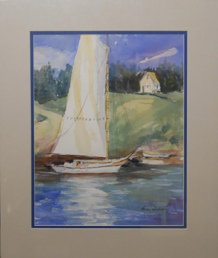 Angelina Wood:  Plein Air Sailing Watercolor
