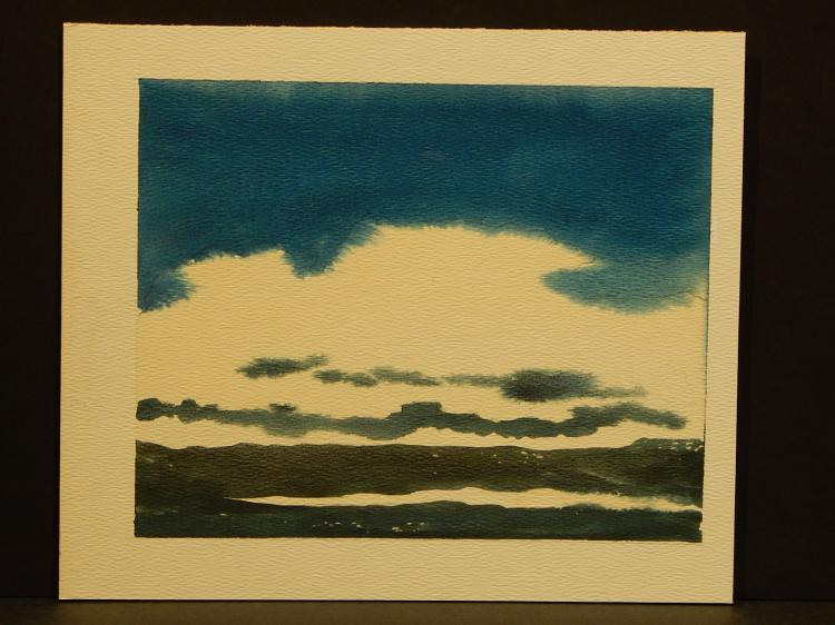 Howard John Besnia: Sea and Sky, Watercolor