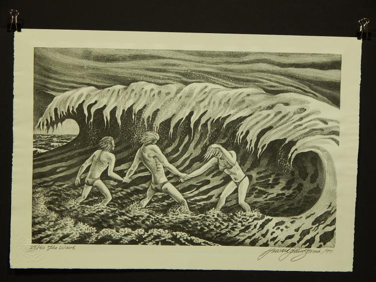 Howard John Besnia: The Wave, Stone Lithograph Ltd. Edition