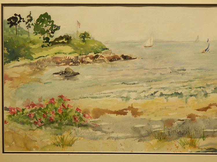 Angelina Wood: Kennebunkport, Maine Watercolor