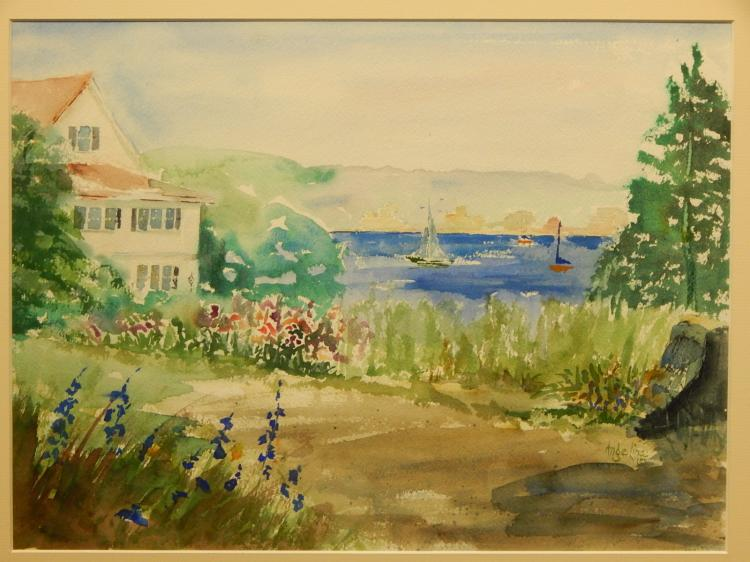 Angelina Wood: Cape Ann, Gloucester Watercolor