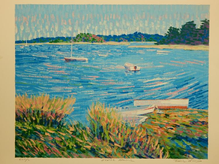 Bruce Wood:  Gentle Harbor, Serigraph