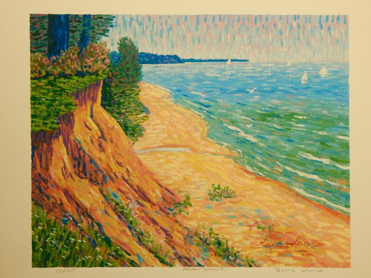 Bruce Wood: Perfect Summer, Serigraph