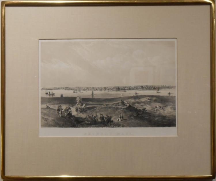 Antique Engraving Of Beverly MA