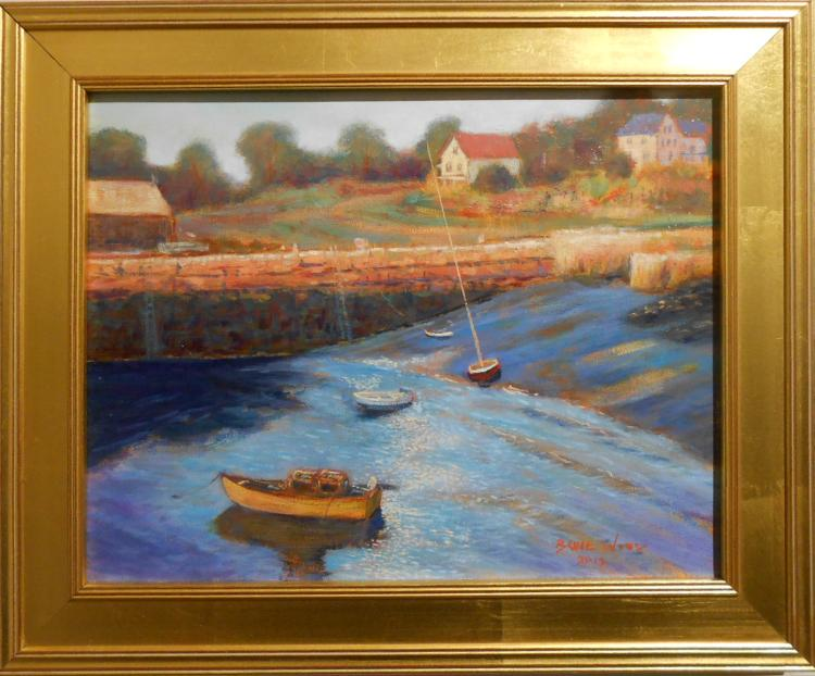 Bruce Wood:Lanesville Gloucester Oil Painting