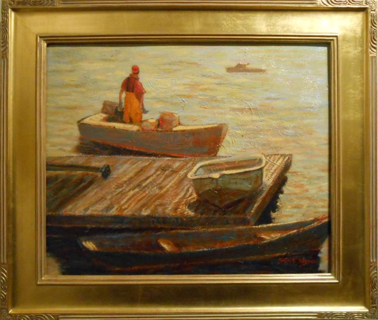 Bruce Wood: Summer Job, Marine Oil Painting