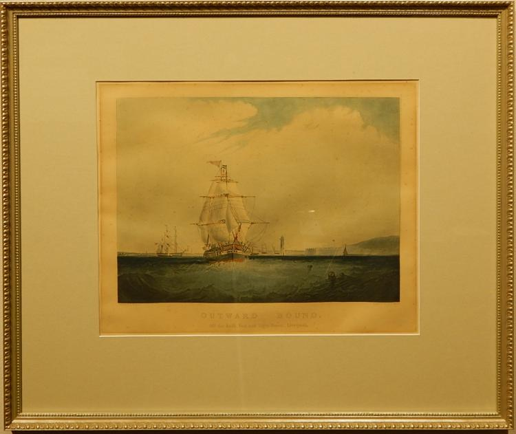 Outward Bound, 19th Century Etching