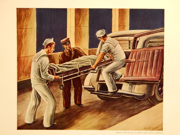 Carlos Andreson (After): Arriving For The Best, 1944 Lithograph