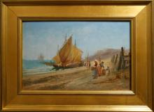 DeCorti: Italian Fishing Boats Marine Oil c.1920