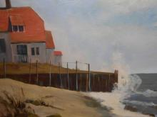 Betty Elliott:  1960's Marine Oil Painting