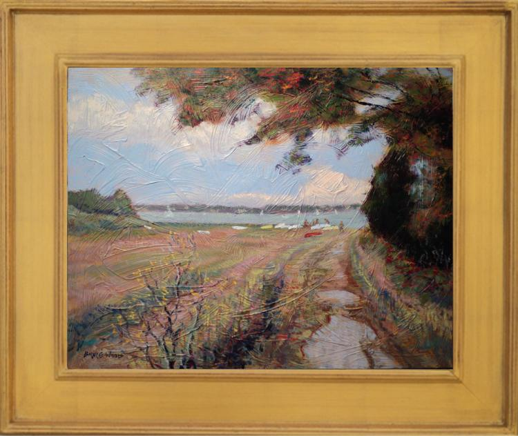 Bruce Wood: Getting Ready, Cape Cod Oil Painting