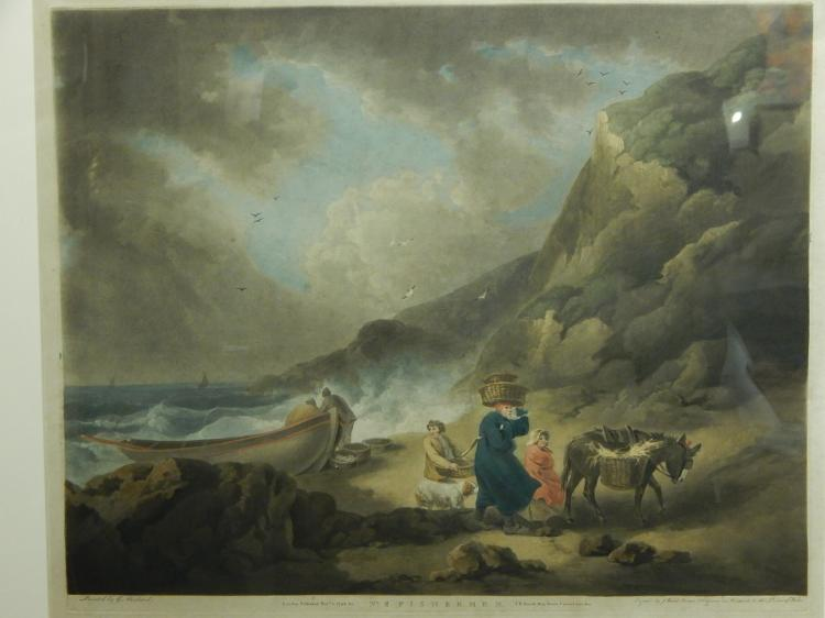 James Ward, After G. Moreland: Fishermen, 1795 Mezzotint