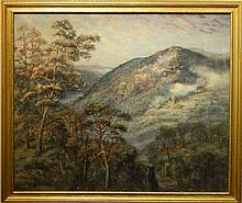 Alfred Addy: Mountains In Maine, 1921 Watercolor