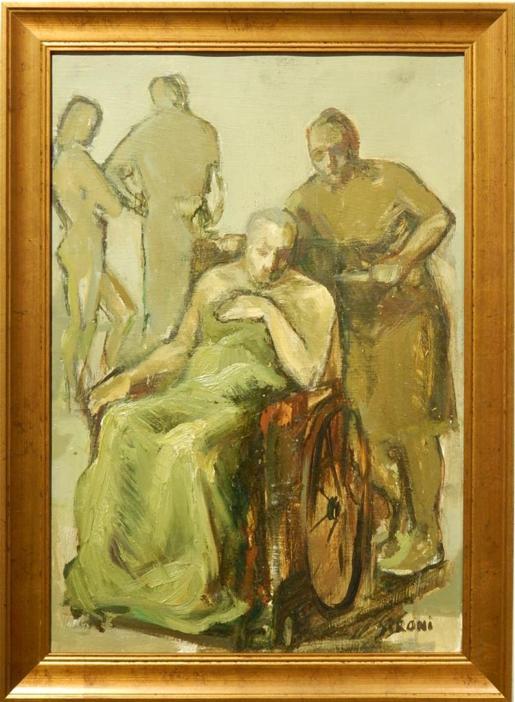Mario Sironi: Figure Study, Oil c.1920