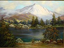 Paul Wesley Arndt: The Great White Peak, Swiss Landscape  c.1940