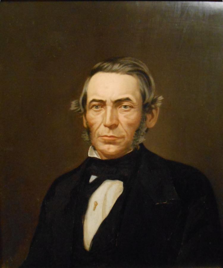 American School: Oil Portrait Of A Man c.1840