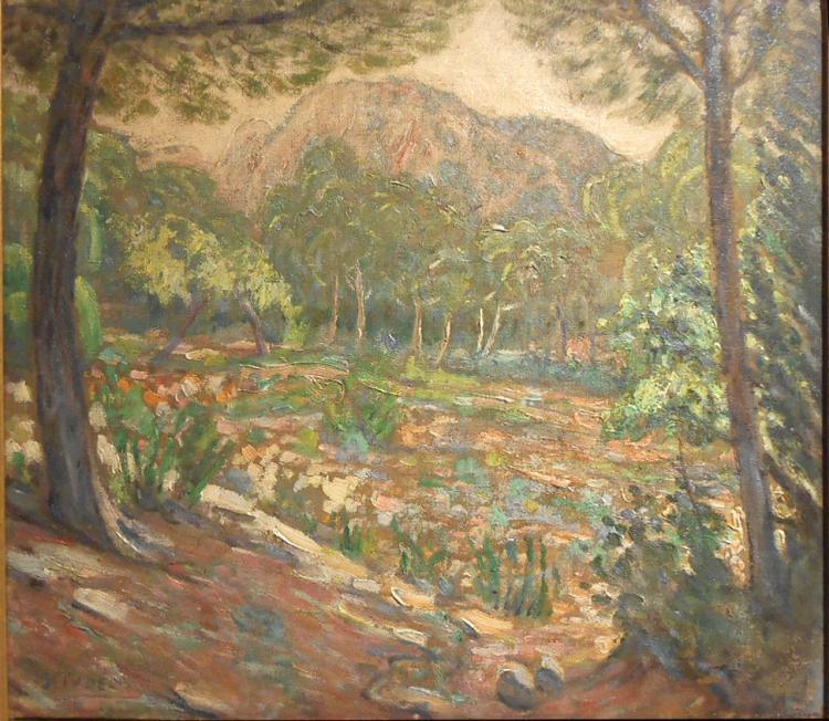 Joaquin Tudela y Perales: Impressionist Landscape Oil Painting c.1920