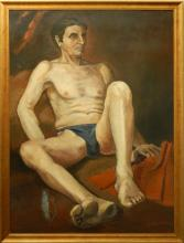 Georgio DeChirico (Attributed): Student Figure Study c.1905