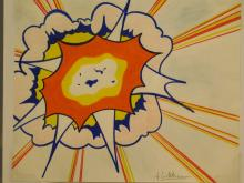 Roy Lichtenstein: Explosion, Drawing