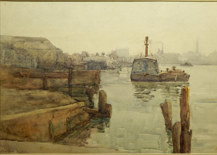 Elizabeth Sawtelle: Potomic River c.1935 Watercolor