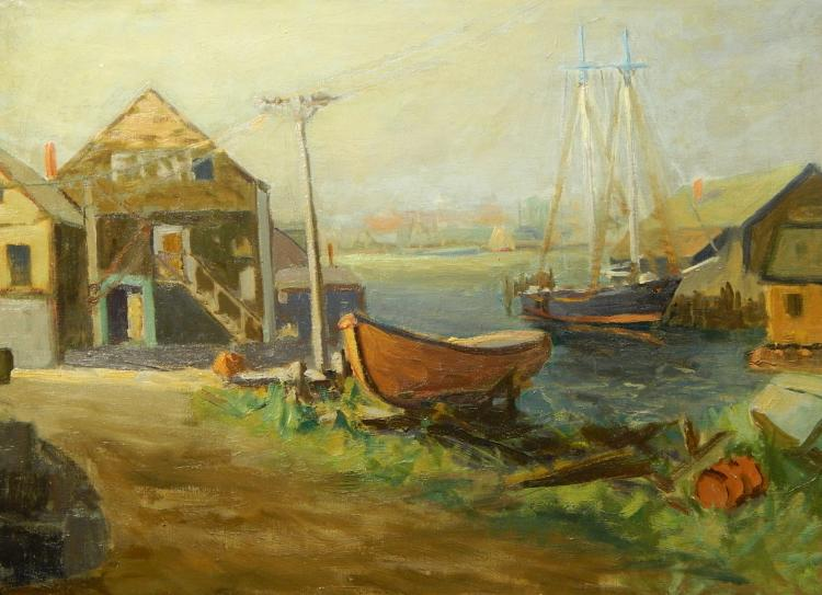 Morris: Gloucester/Rockport Oil Painting c.1940