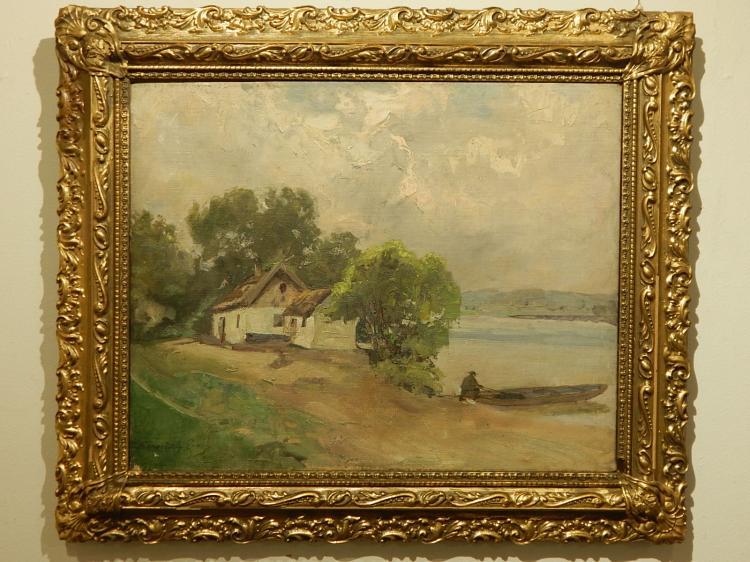 Coastal Oil Painting, c.1900