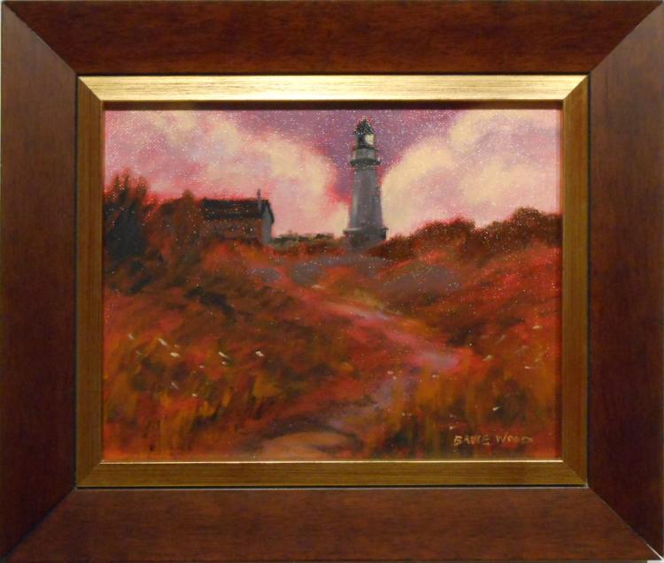 Bruce Wood: Maine Light House Oil Painting