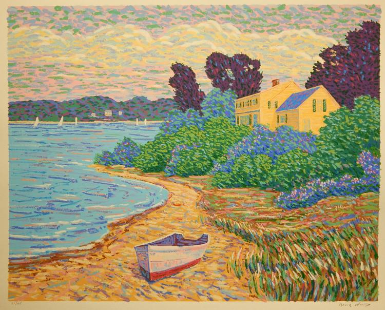 Bruce Wood:  Secret Cove, Serigraph