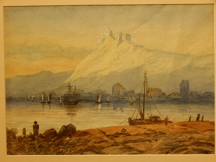 Belgian Harbor, Watercolor, 1885