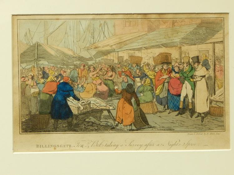 H. Aiken: Billingsgate, Tom & Bob, c.1830 Engraving