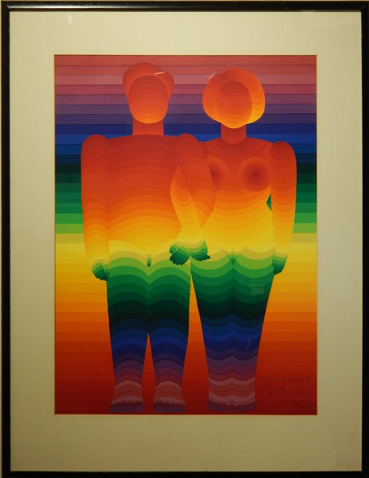 Ay-O: Mr. & Mrs. Rainbow B, Silk Screen Print, 1971