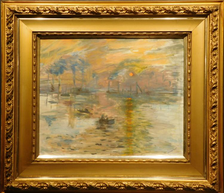 Frances Scott, After Monet: Sunrise, Oil Painting
