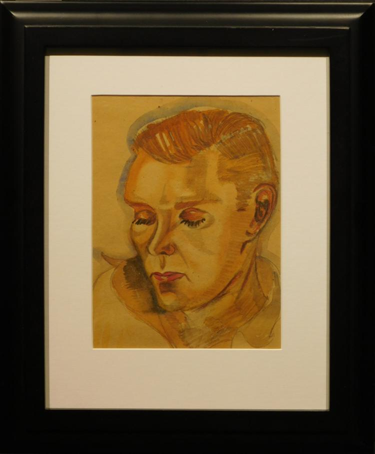 Portrait of a Man, Watercolor, c.1920