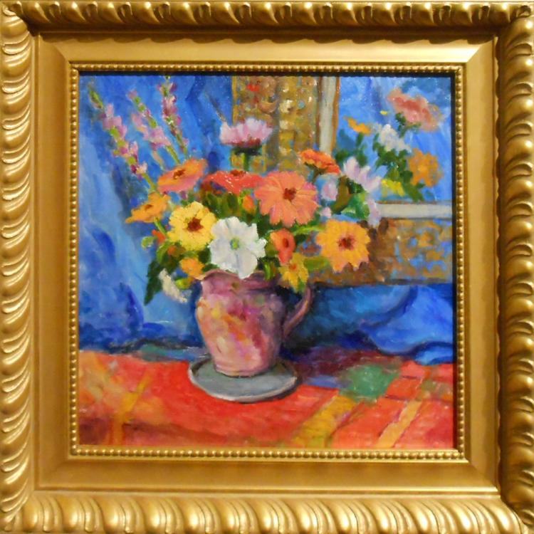 Ronald Seager: Floral Still Life Oil Painting