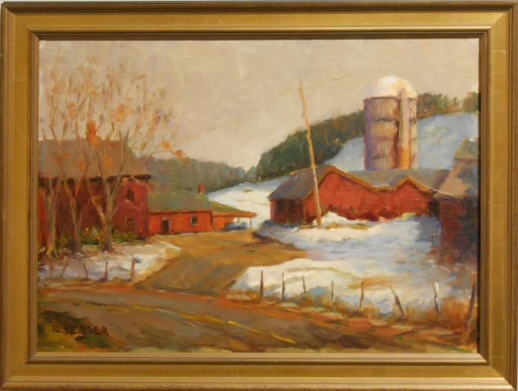 Ronald Seager: Double-Sided Plein Air Snow Scenes