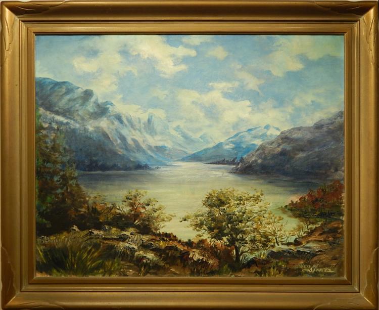 George W. Coblentz: Lake Josephine, Oil on Canvas c.1940