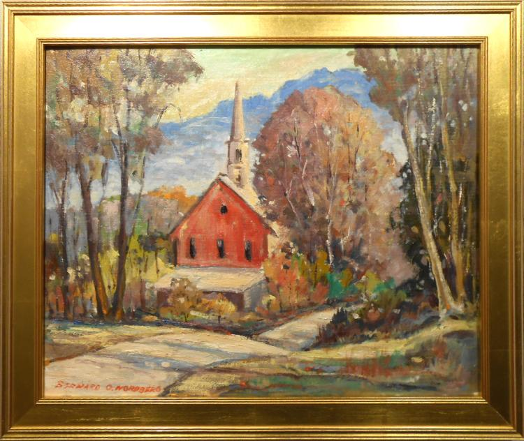 Bernard Nordberg: Indiana Impressionist Oil Painting c.1960