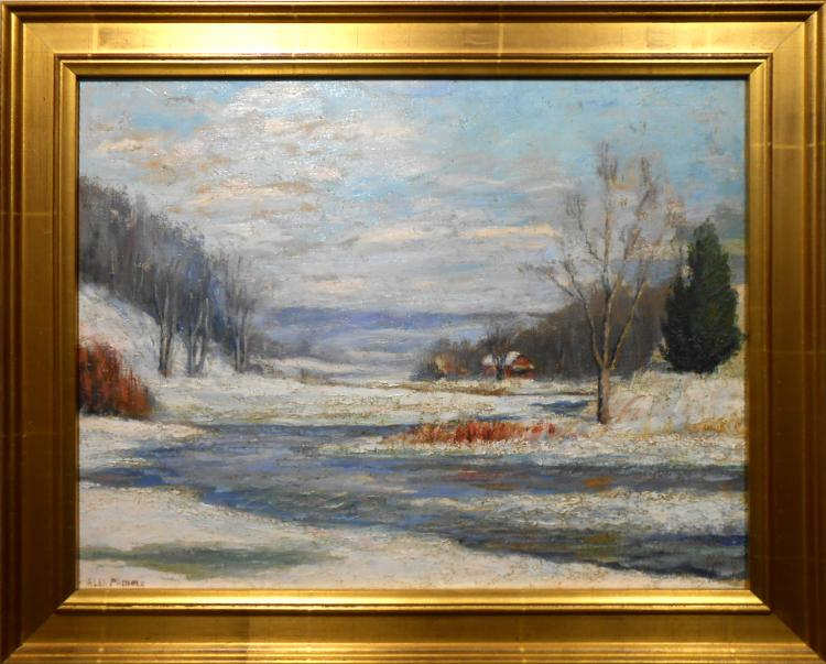 Alex Pringle: Winter Landscape Oil Painting